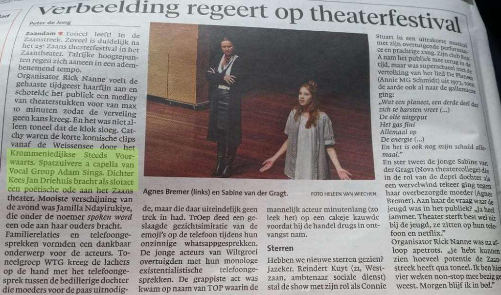 Recensie Zaand theaterfestival